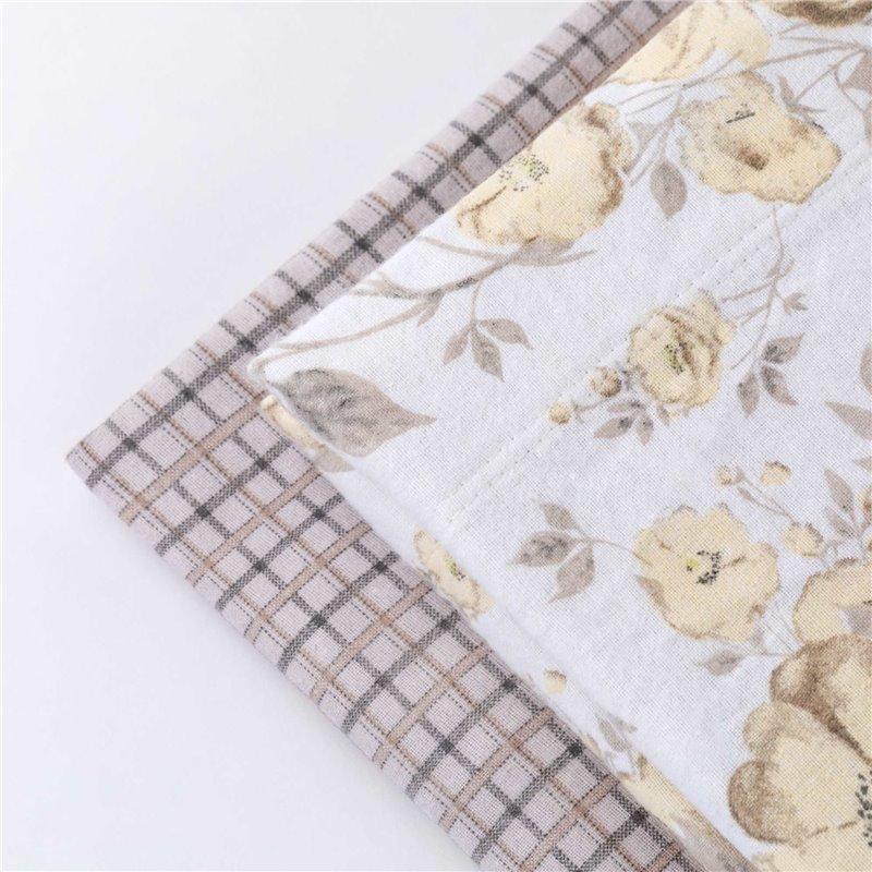 Completo letto 100% cotone garzato in flanella Charlotte