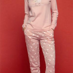 Pigiama Fa7476 caldo cotone pantalone con polsino