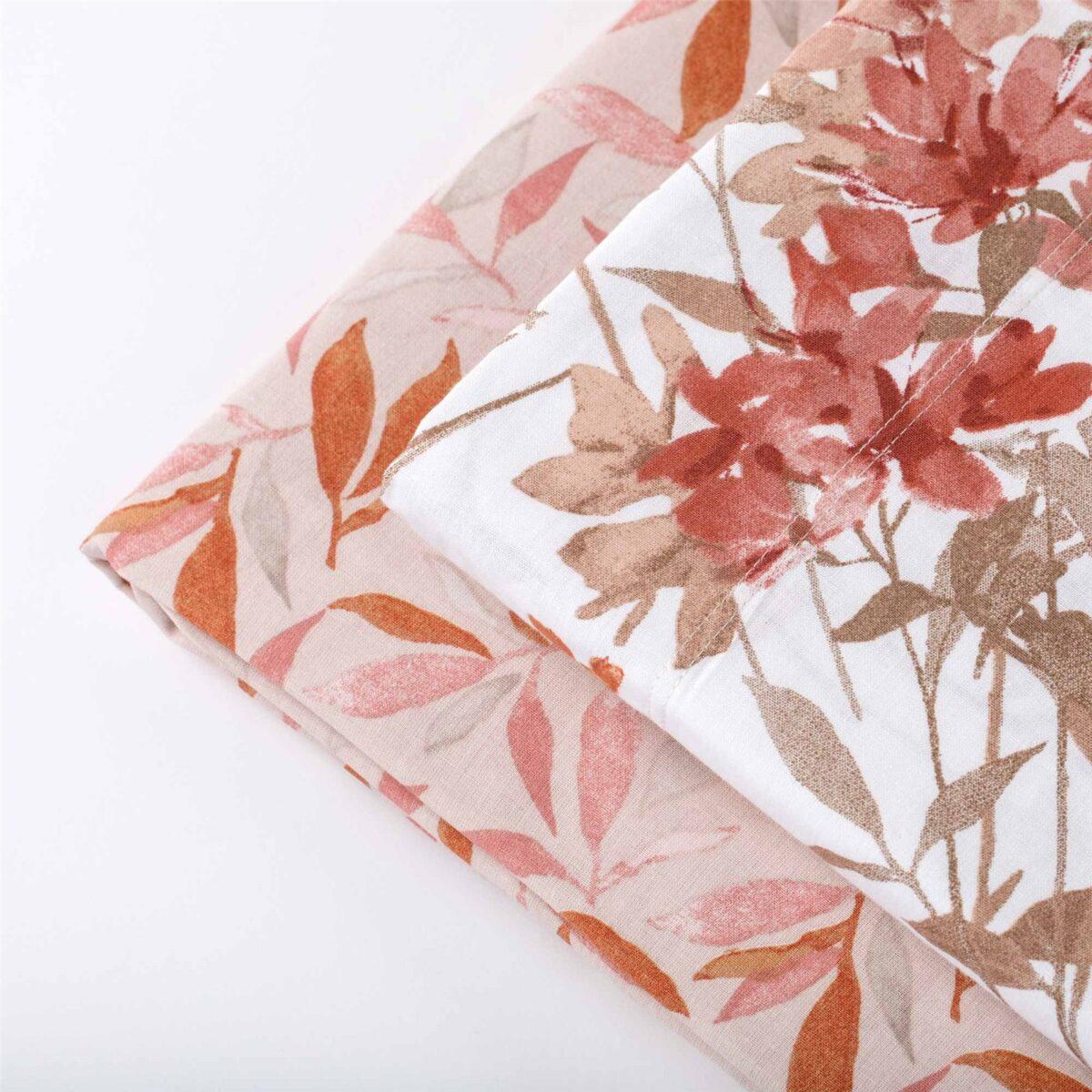 Completo letto 100% cotone garzato Flora